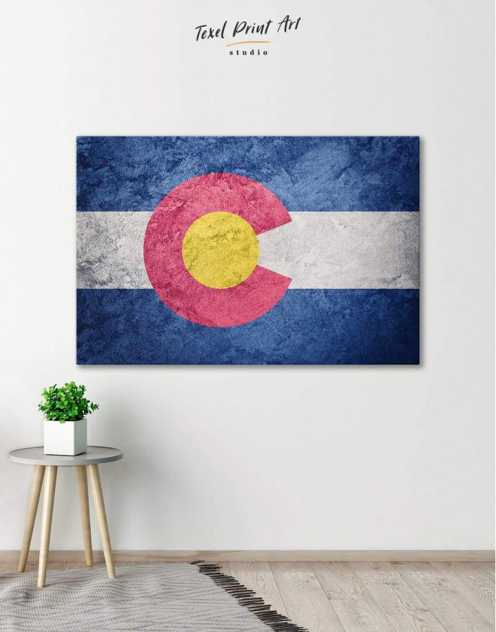 Colorado Flag Canvas Wall Art