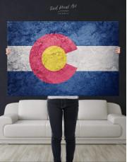 Colorado Flag Canvas Wall Art - Image 4