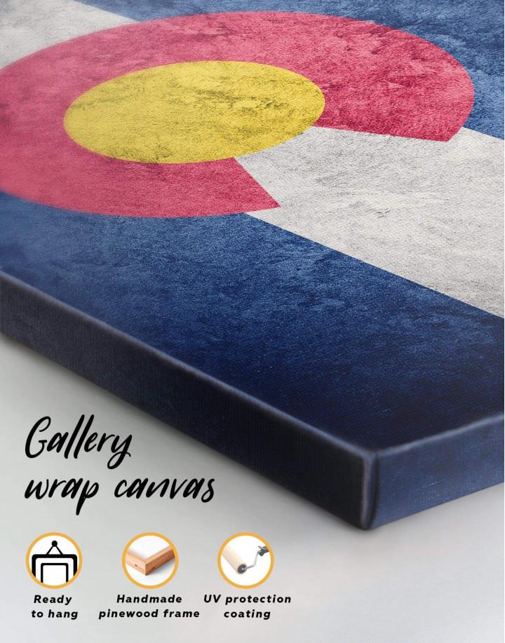 Colorado Flag Canvas Wall Art - Image 5