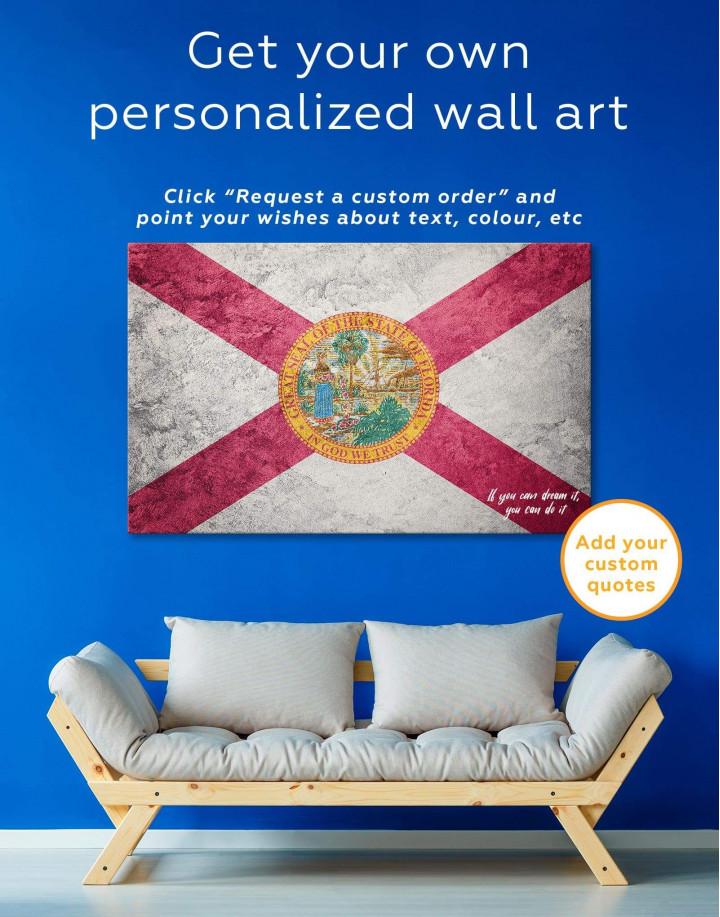 Florida Flag Canvas Wall Art - Image 1
