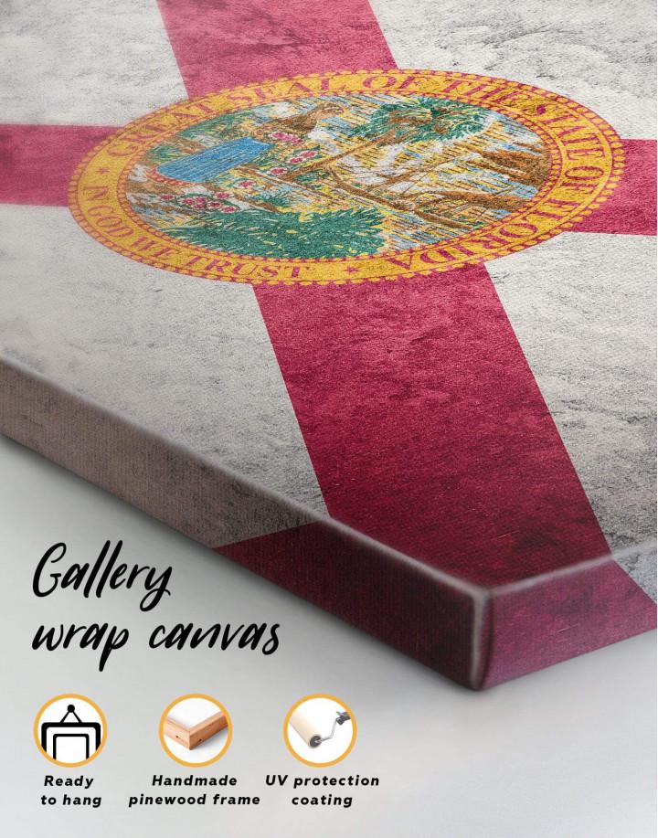 Florida Flag Canvas Wall Art - Image 5