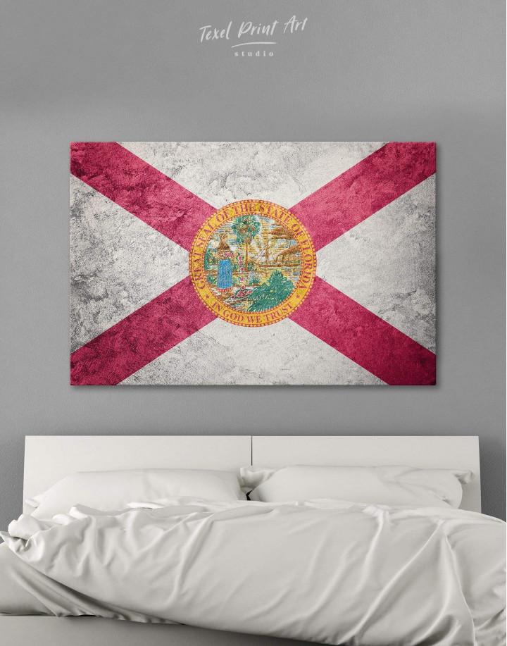 Florida Flag Canvas Wall Art