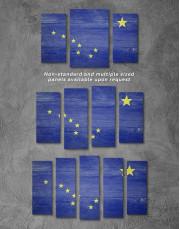 Alaska Flag Canvas Wall Art - Image 2