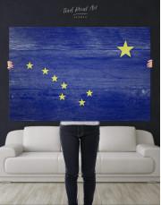 Alaska Flag Canvas Wall Art - Image 4