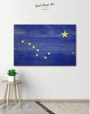Alaska Flag Canvas Wall Art