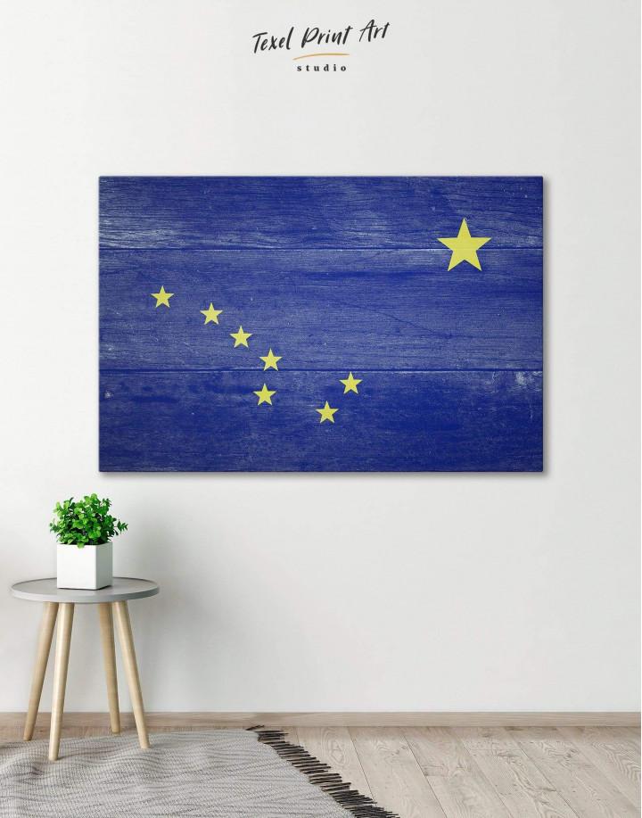 Alaska Flag Canvas Wall Art - Image 0