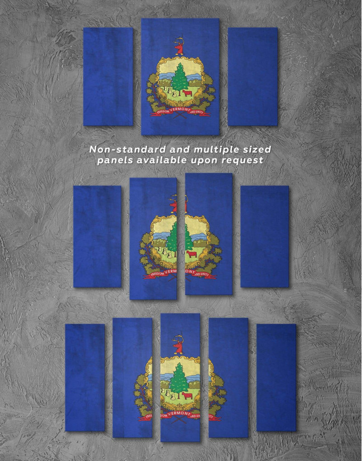 Vermont Flag Canvas Wall Art - Image 2