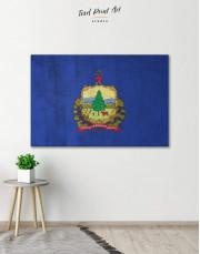 Vermont Flag Canvas Wall Art