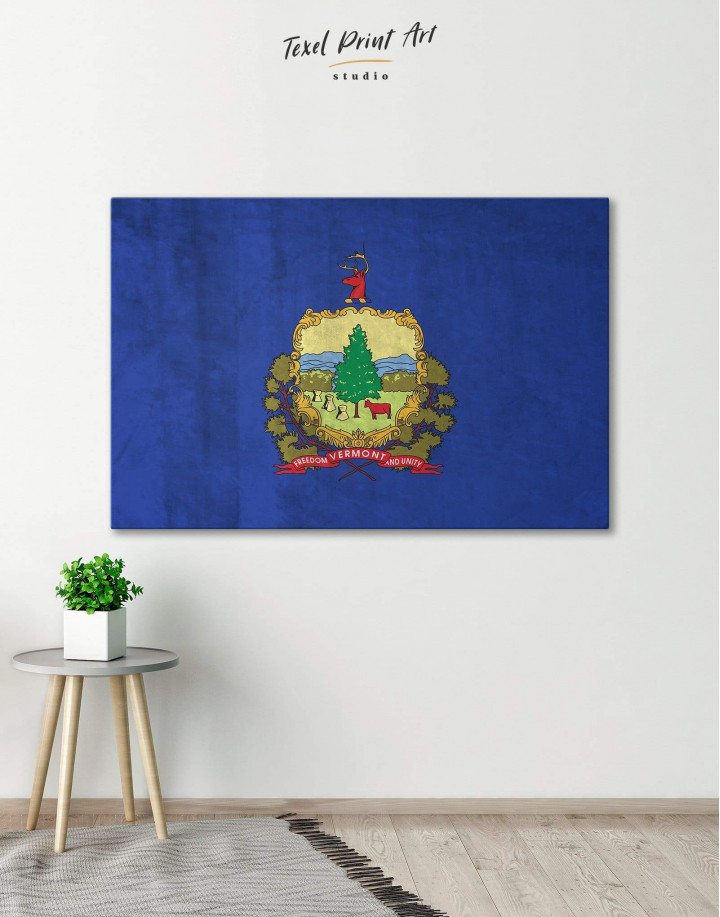 Vermont Flag Canvas Wall Art - Image 0