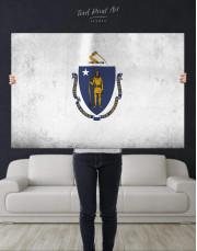 Massachusetts Flag Canvas Wall Art - Image 4