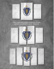 Massachusetts Flag Canvas Wall Art - Image 2