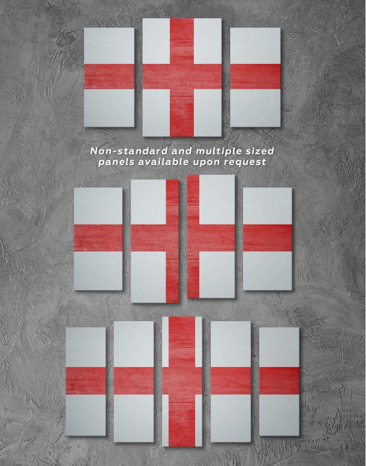 England Flag Canvas Wall Art - Image 2