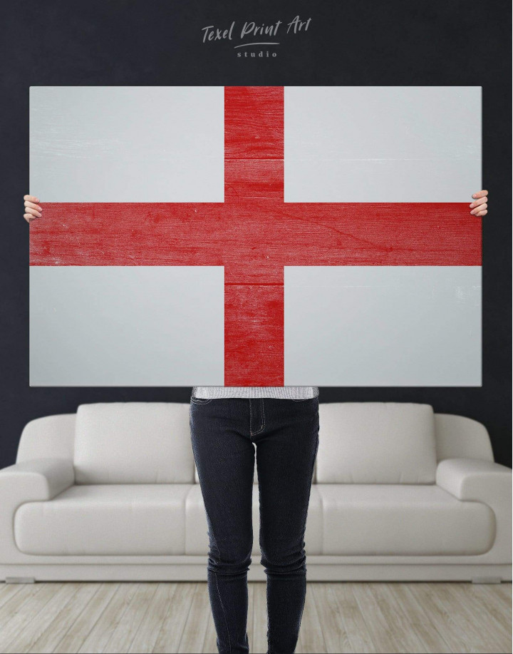 England Flag Canvas Wall Art - Image 4