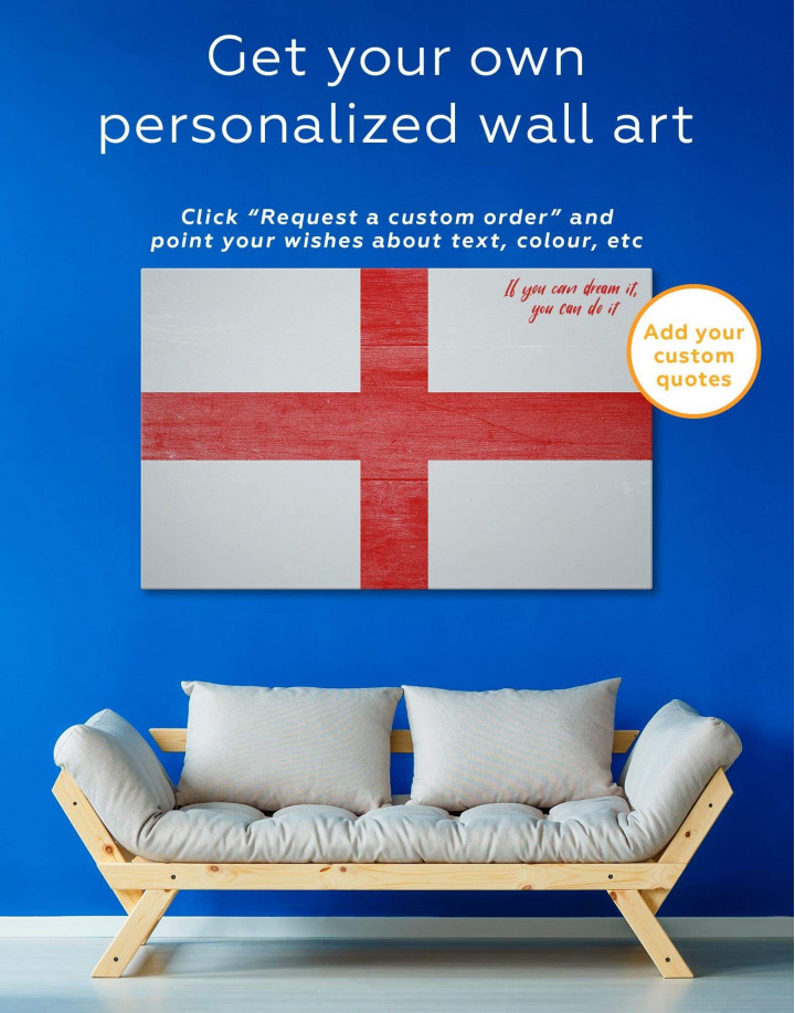 England Flag Canvas Wall Art - Image 1