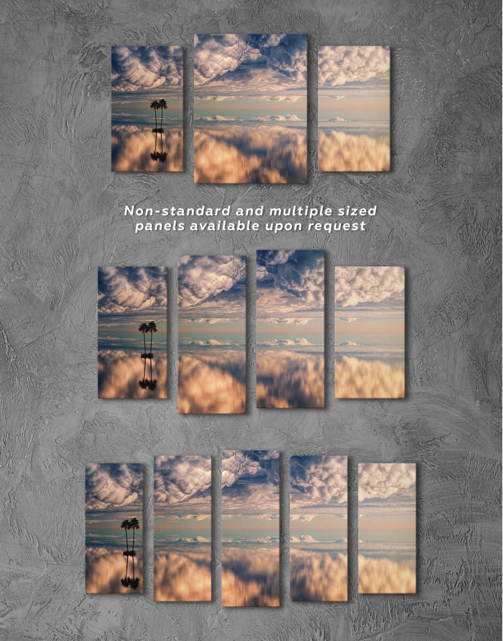 Ocean and Clouds Canvas Wall Art - Image 2