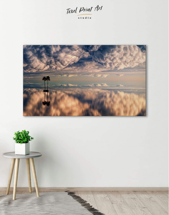 Ocean and Clouds Canvas Wall Art - Image 0