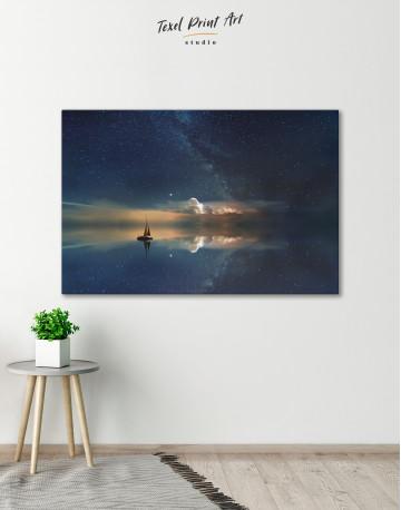 Night Sky Ocean and Stars Canvas Wall Art - image 6