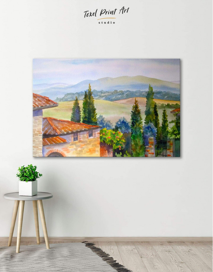 Tuscan Landscape Painting Canvas Wall Art - Image 0