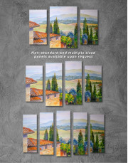 Tuscan Landscape Painting Canvas Wall Art - Image 4