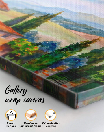 Tuscan Landscape Painting Canvas Wall Art - image 1
