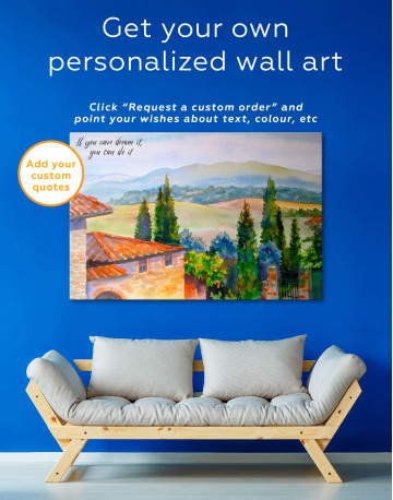 Tuscan Landscape Painting Canvas Wall Art - image 5