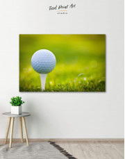 Golf Ball Canvas Wall Art