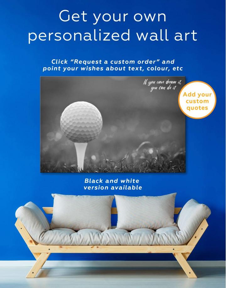 Golf Ball Canvas Wall Art - Image 1