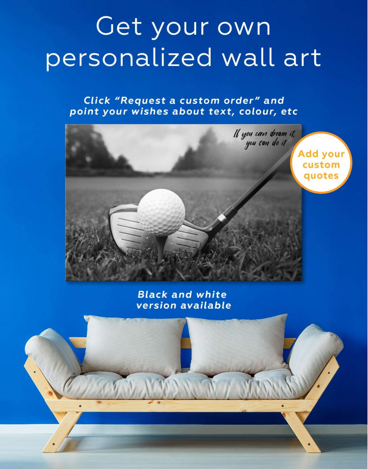 Golf Game Canvas Wall Art - Image 1