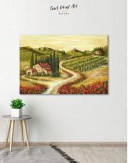Tuscany Landscape Painting Canvas Wall Art