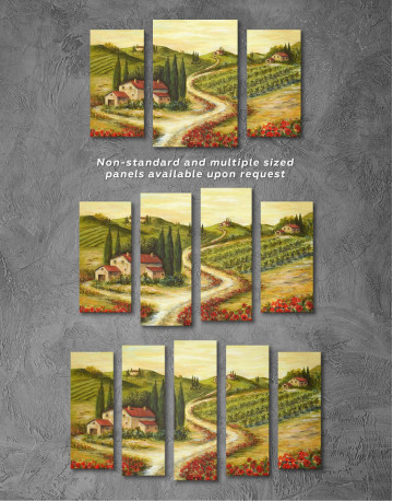 Tuscany Landscape Painting Canvas Wall Art - image 2