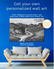 Tuscany Landscape Painting Canvas Wall Art - Image 1