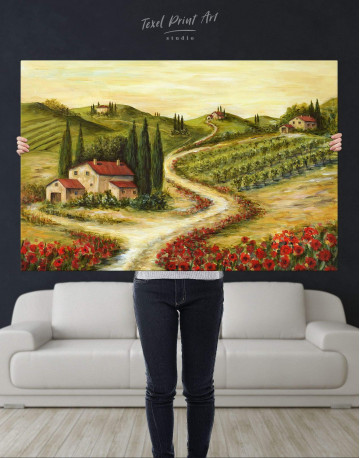 Tuscany Landscape Painting Canvas Wall Art - image 4