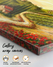 Tuscany Landscape Painting Canvas Wall Art - Image 5