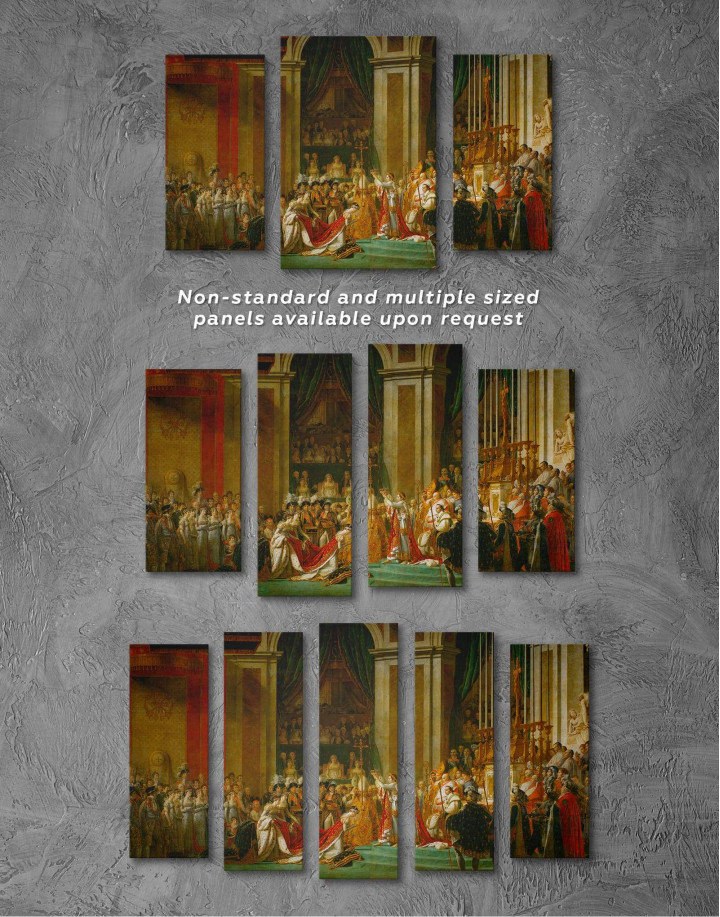 The Coronation of Napoleon by Jacques-Louis David Canvas Wall Art - Image 2