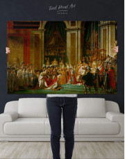 The Coronation of Napoleon by Jacques-Louis David Canvas Wall Art - Image 4