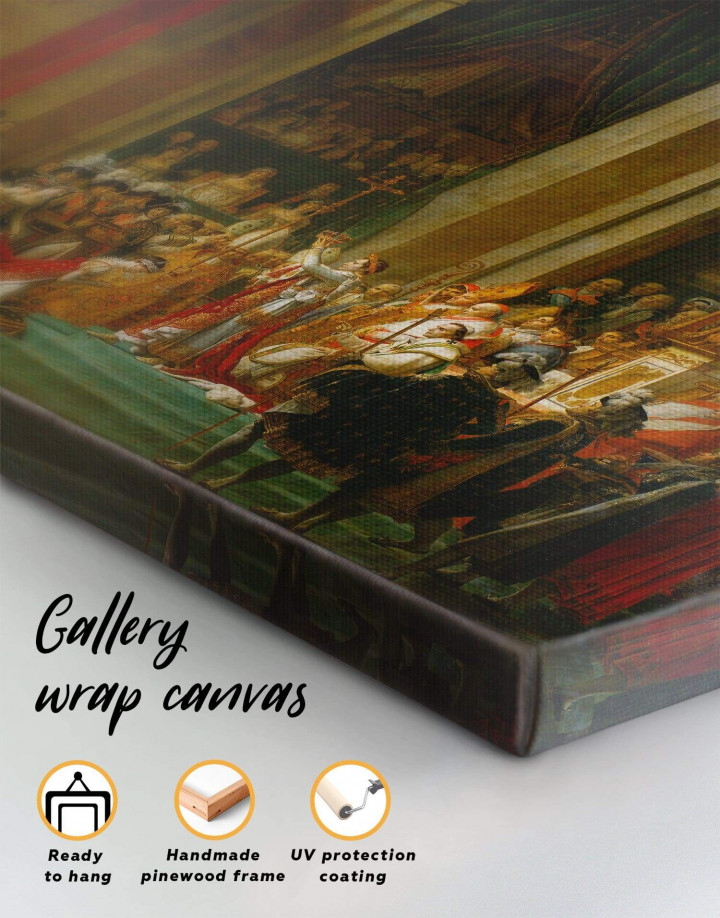 The Coronation of Napoleon by Jacques-Louis David Canvas Wall Art - Image 6