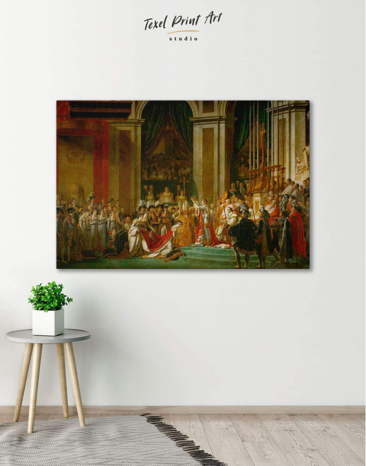 The Coronation of Napoleon by Jacques-Louis David Canvas Wall Art