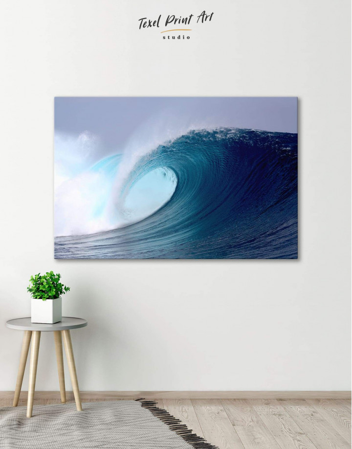 Powerful Ocean Wave Canvas Wall Art - Image 0