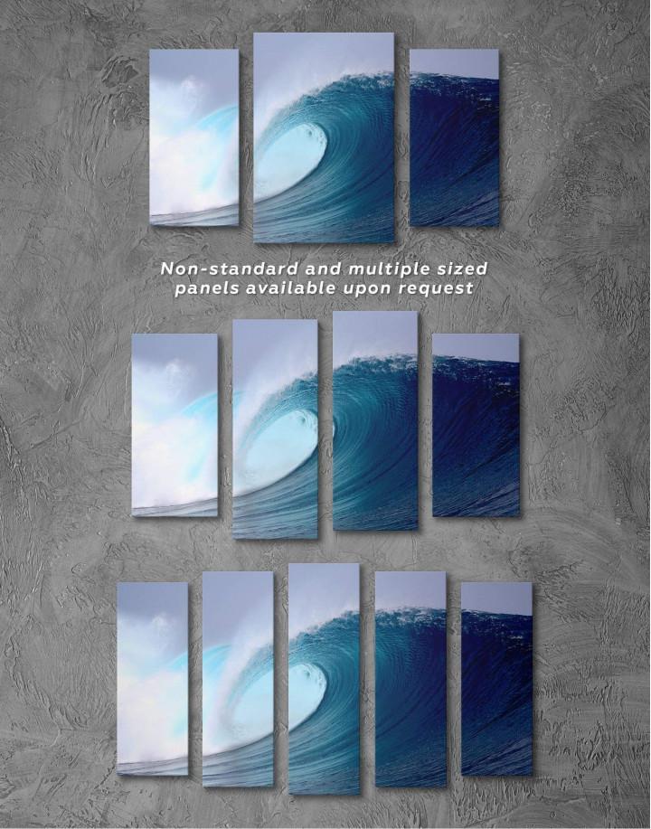 Powerful Ocean Wave Canvas Wall Art - Image 2