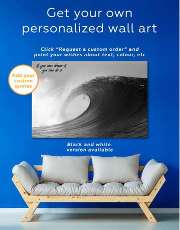 Powerful Ocean Wave Canvas Wall Art - image 1