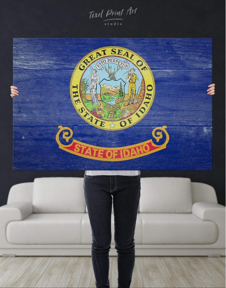 Idaho Flag Canvas Wall Art - Image 2