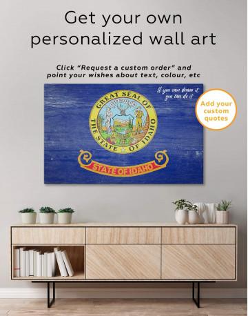 Idaho Flag Canvas Wall Art - image 5
