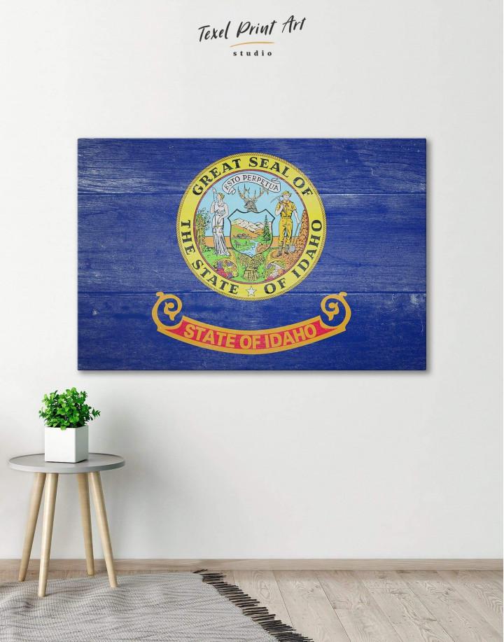 Idaho Flag Canvas Wall Art - Image 0