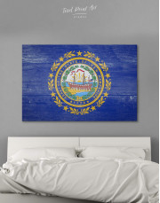 New Hampshire Flag Canvas Wall Art