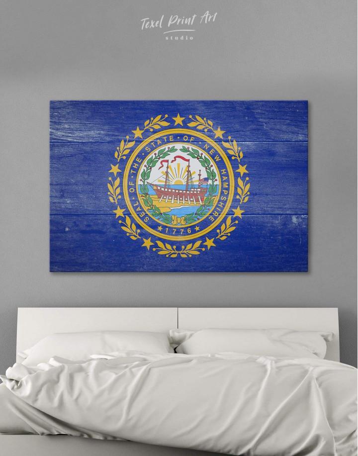 New Hampshire Flag Canvas Wall Art - Image 0