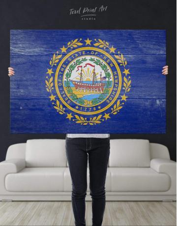New Hampshire Flag Canvas Wall Art - image 4