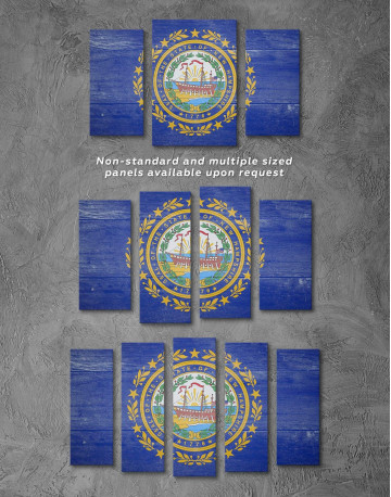 New Hampshire Flag Canvas Wall Art - image 2