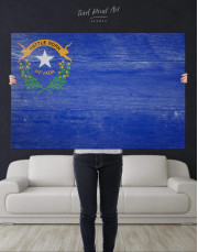 Nevada Flag Canvas Wall Art - Image 2