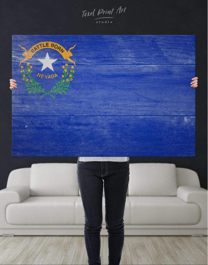 Nevada Flag Canvas Wall Art - Image 4