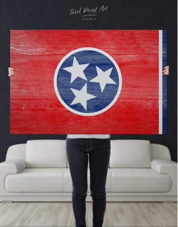 Flag of Tennessee State Canvas Wall Art - image 4